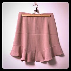 🆑 🚺 J. CREW Flared Pink Skirt